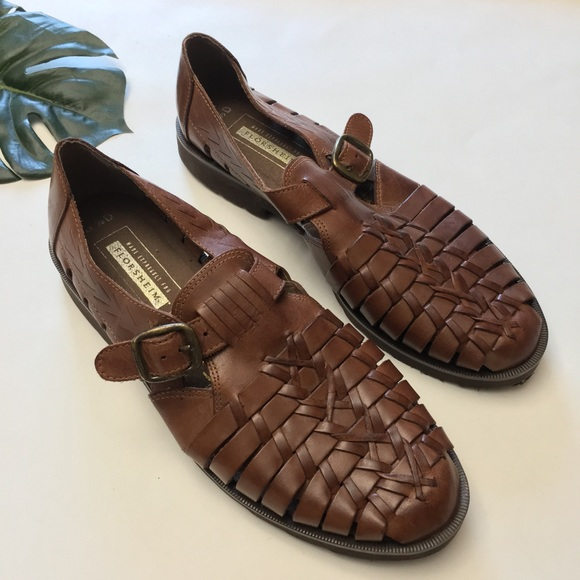 00f5c6811332 Florsheim Other - Florsheim Leather Woven Huarache Sandals Loafers